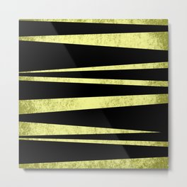 Black and Gold Flags Metal Print