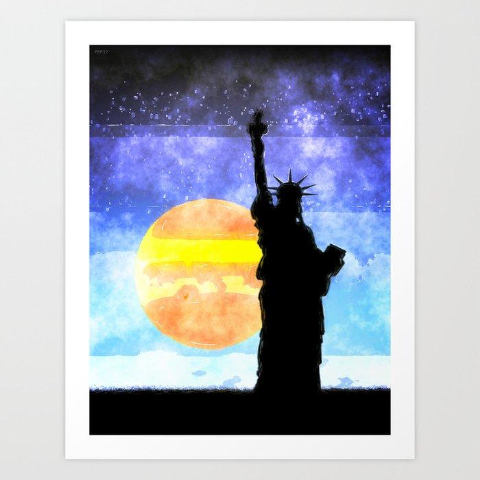 Majestic Lady Liberty Art Print