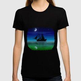 Sailing On A Sea of Green. T-shirt