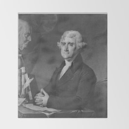 President Thomas Jefferson Throw Blanket