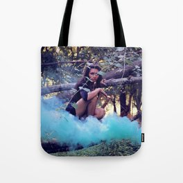 From the majesty she rises Tote Bag