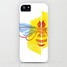 Be Safe - Save Bees linocut iPhone Case