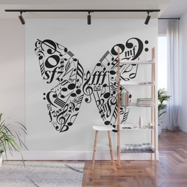 Music butterfly Wall Mural