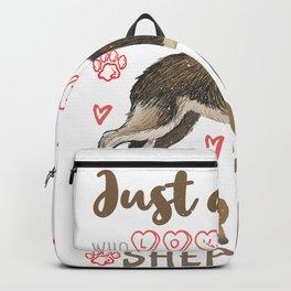 Girl Who Loves German Shepherd Dogs Girls and Women Backpack