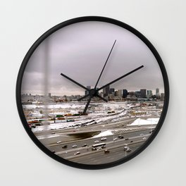 Denvers First Snow Wall Clock