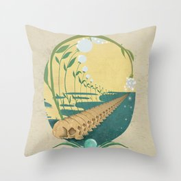 Slipping Through the Fabric of Space and Time Throw Pillow