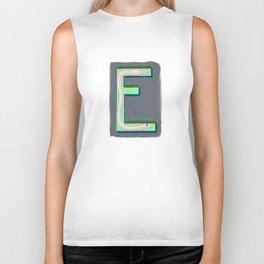 E is for Earthworm Letter Alphabet Decor Design Art Pattern Biker Tank