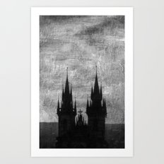 Praga in black and white Art Print