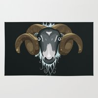 ram Area & Throw Rugs featuring Ram by Compassion Collective