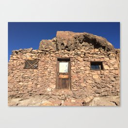Building at the Ghost Town in Calico, California Canvas Print