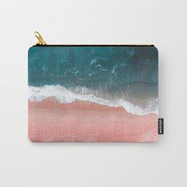 Turquoise Sea Pastel Beach III Carry-All Pouch