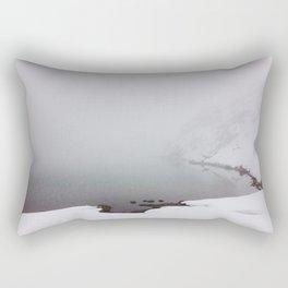 Foggy Lake Rectangular Pillow