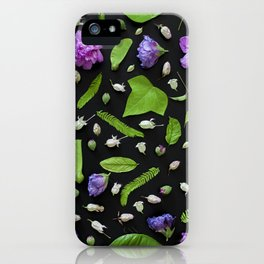 Leaves and flowers pattern (17) iPhone Case