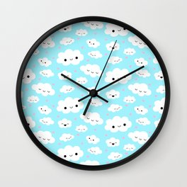 Happy Clouds in the Sky Wall Clock
