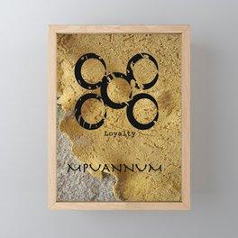 Adinkra Symbol Mpuannum Framed Mini Art Print