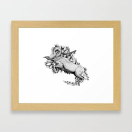 Goat  - Go Vegan Framed Art Print