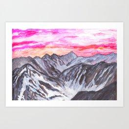 Swiss Alps in Cabane Tracuit Art Print