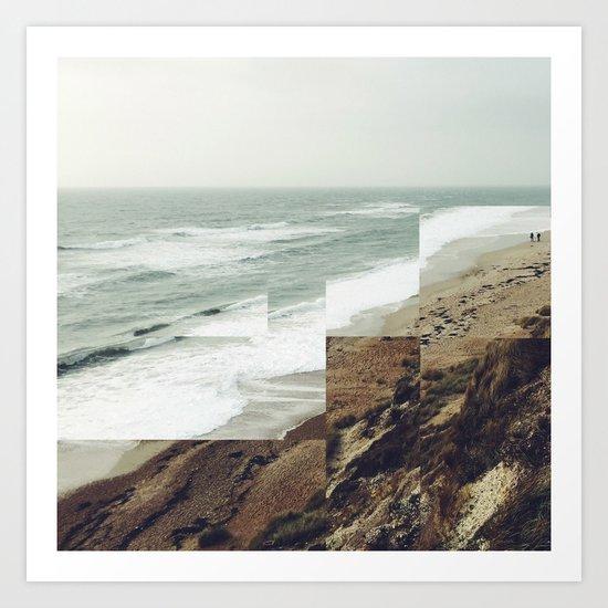 Walks on the beach Art Print
