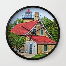 Eagle Bluff Lighthouse Wall Clock