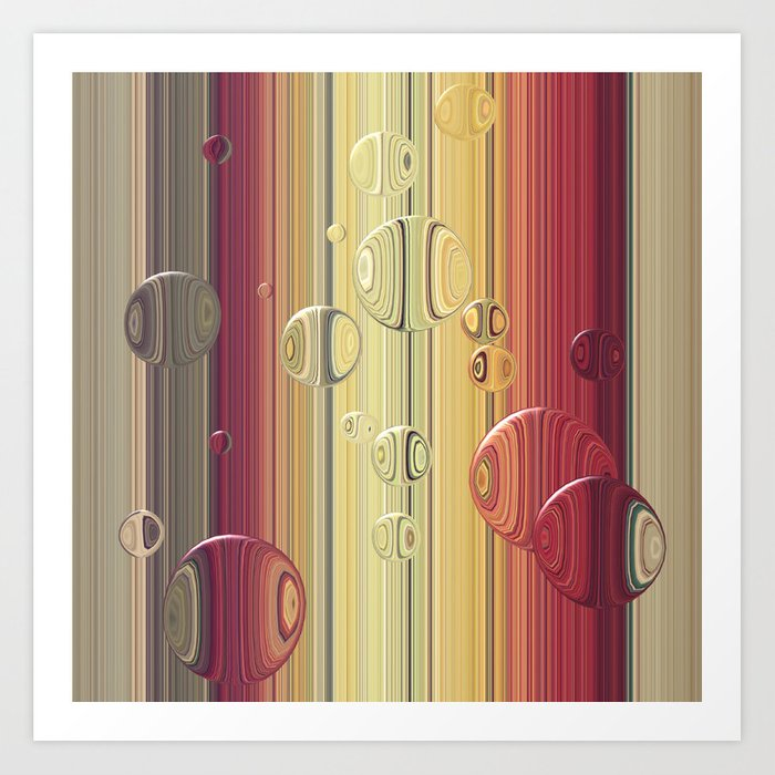 Lines/circles Art Print