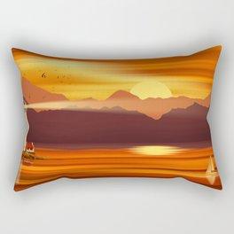 Lighthouse In The Sunset Rectangular Pillow