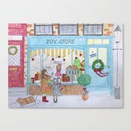 Holiday shopping Canvas Print