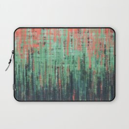 Coral Mint Navy Abstract Laptop Sleeve