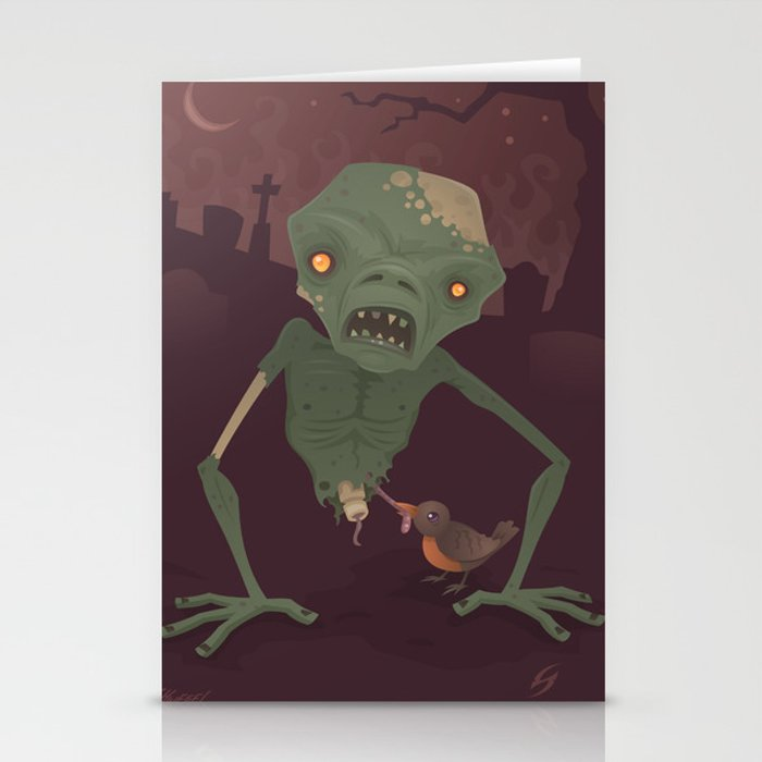 Sickly Zombie Stationery Cards