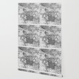 Vintage Map of Vancouver Canada (1920) BW Wallpaper