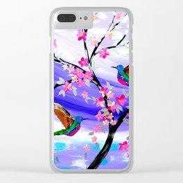 Mauve Dream Clear iPhone Case