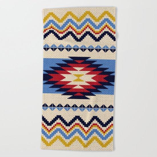 Aztec pattern Beach Towel