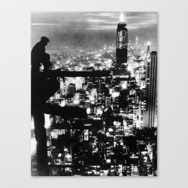 Late night construction in NYC Canvas Print