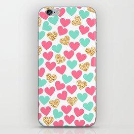 HEART--GOLD iPhone Skin