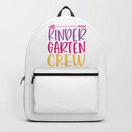 Kinder Garten Crew - Funny School humor - Cute typography - Lovely kid quotes illustration Backpack