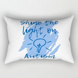 Shine the Light on Autism Rectangular Pillow
