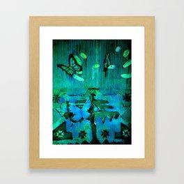 Entomophobia (green) Framed Art Print