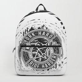 Ride Harder B&W Backpack