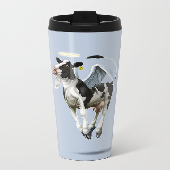 Holy Cow (colour) Metal Travel Mug