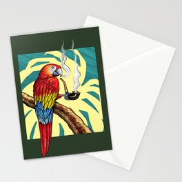 Smokin parrot .... where is my pipe ??? Stationery Cards