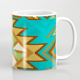 Native Aztec Tribal Turquoise Pattern Coffee Mug