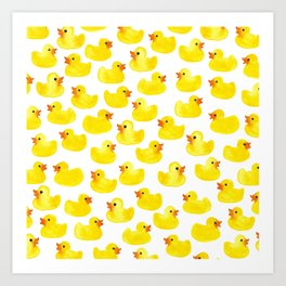 Rubber Ducks Art Print