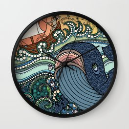 'Jonah and the Whale' Wall Clock