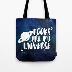 Books are my Universe - Galaxy Blue Tote Bag