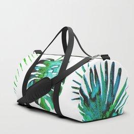 Four Tropical Leaves Duffle Bag