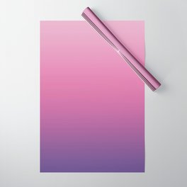 Pink Ultra Violet Ombre Gradient Pattern Wrapping Paper