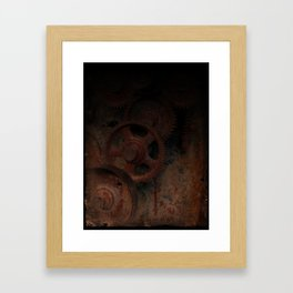 Gear mechanism (darkness) Framed Art Print