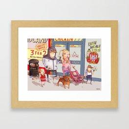 The Chav Family Outing Framed Art Print