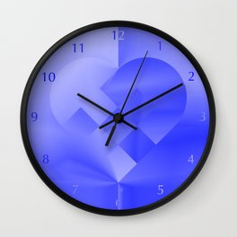 Danish Heart Blues Wall Clock