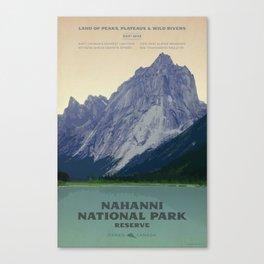 Nahanni National Park Poster Canvas Print