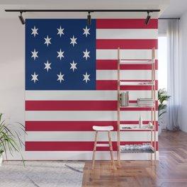 Historical flag of the USA: Hopkinson Wall Mural